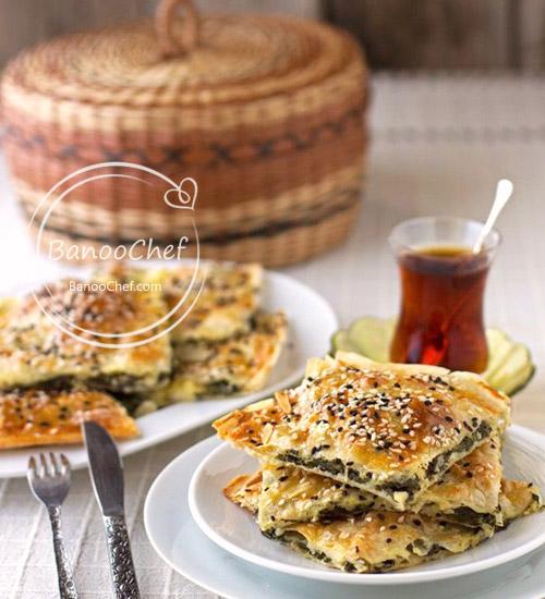 طرز تهیه بورک ترکی