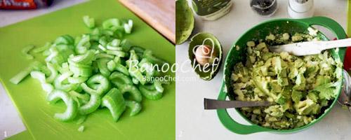 کیک سبزیجات و پنیر