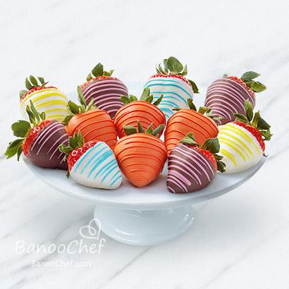 تزیین میوه با شکلات