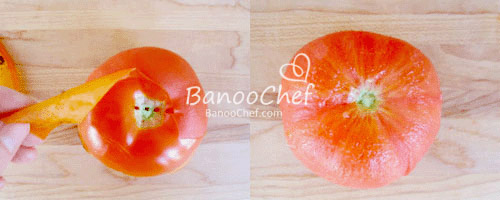 پوست کندن گوجه فرنگی