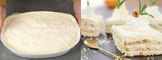 کیک دسر نارگیلی